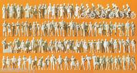 Preiser 16337 pasajeros y transeúntes. 120 y 120 figuras sin pintar, H0