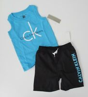 NWT Calvin Klein Toddler Boys 2pc Graphic Tank Top & Shorts Set Sz 3/3t NEW $55