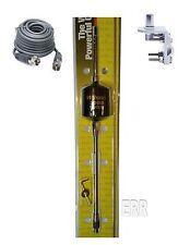 "Wilson 2000 Trucker CB Radio Antenna 305-495 10"" Shaft B,18FT COAX, BRKT,STUD"