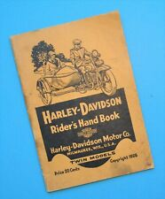 Original 1920s Harley Riders Hand Book Owners Manual V Twin J JD JS JDS FD FDS F