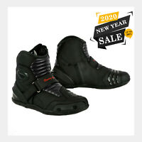 WATERPROOF MOTORBIKE LEATHER BOOTS ADVENTURE MOTORCYCLE TOURING SHOES