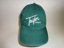 TAYLOR MADE GOLF CAP/HAT GREEN 100% COTTON ADJUSTABLE SIZING GOLF CLOTHING