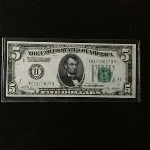 FANCY VERY CH 63PPQ 1928 $5 FEDERAL RESERVE NOTE
