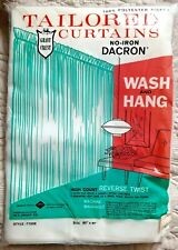 "Nip Vintage Tailored Curtain Dacron ~ Extra Fine Weave Sheer Panel ~ 81"""