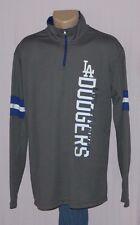Los Angeles Dodgers Mens 1/4 Zip Long Sleeve Shirt LRG - MLB