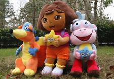 3pcs/set large Dora The Explorer Swiper Fox Boots The Monkey Plush Toy Soft Doll