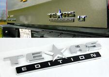 Chrome Texas Edition NamePlate for Fender Hood Bumper Door Trunk Tailgate
