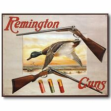REMINGTON Shotguns & Duck Hunting Tin Sign Metal Poster MADE in the USA