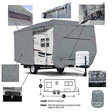 Deluxe Trailer Traveler Camper RV Cover Fits 33' 34' 35'L w/ Zipper Door Access