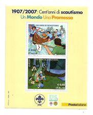 Foglietto Italia  1907/2007 Cent'Anni di Scautismo  2007