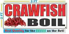 Crawfish Boil Banner Sign New Larger Size Best Quality for the $