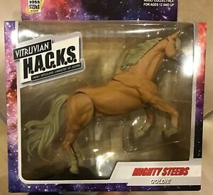"Vitruvian HACKS Mighty Steeds Boss Fight Studio 4"" 1/18 scale horse tan Goldie"