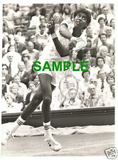RARE ORIGINAL PRESS PHOTO - WIMBLEDON 1979 TENNIS STAR VIJAY AMRITRAJ FROM INDIA