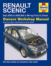 Haynes Workshop Manual for Renault Scenic Petrol & Diesel (03-06)