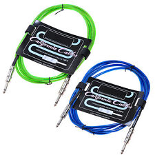 Blue+Green 6M 20ft Cables Cord Lead Guitar Amplifier AMP for fender replacement