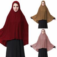 Muslim Women Prayer Dress Hijab Long Scarf Jilbab Islam Large Overhead Clothing