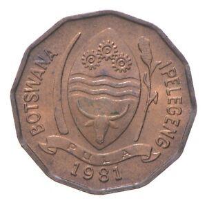 Gem BU - FAO Money 1981 Botswana 2 Thebe *269