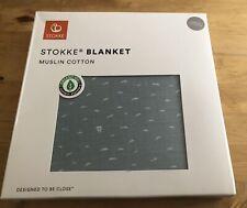 Stokke Organic mousseline couverture-Bleu Ardoise Entièrement neuf dans sa boîte