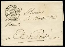 FRANCE STAMPLESS COVER G BRIONNE 28 AUG 1839 TO THE MINISTER OF INTERIOR PARIS