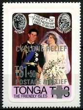 Tonga 1981 SG#808 Royal Wedding MNH Optd Cyclone Relief #R411