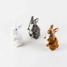 """EM0970 7"""" Standing Furry Bunny Rabbit Easter Spring Holiday Table Decoration"""