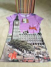 "Paul Smith Size M Ladies Short Sleeved T-Shirt ""London"" Design Rare - BNWT"