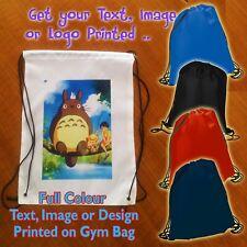 Personalised Drawstring Rucksack Bag Gym Sports Travel Swim or School Backpack