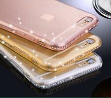 de luxe ultra fin cristal diamant bling étui gel pour iPhone 6 7 & SAMSUNG