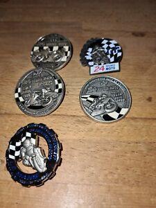 Lot 5 insignes badges broches médailles moto 24 heures  du mans