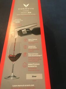 Coravin Model Six Wine Preservation System # 112217 Silver New in Box