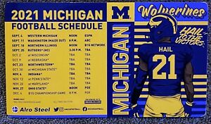 2021 Michigan Wolverines Magnet Schedule 🏈 Great College Football Sked 🏈 HAIL