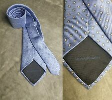 Ermenegildo Zegna Men's Italy 100% Silk Paisley Blue Diamond Neck Tie EUC