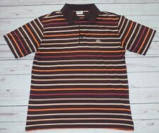 Lacoste Striped Multi Colour Short Sleeve Polo Shirt  Size 5 Medium