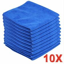 10xBLUE Large Microfibre Cleaning AutoCar Detailing Soft Cloths Wash TowelDuster