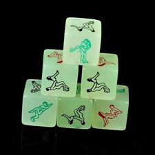 Adult Sex Dice Toy Glow In The Dark Hen Stag Night Party Luminous Green Gift New
