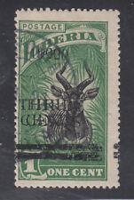 Liberia # 176b USED Double 1920 Surcharge Fauna Bongo Antelope