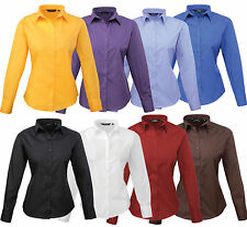 Classic Collar Business Long Sleeve Tops & Shirts for Women