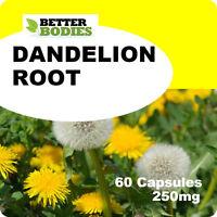 60 Dandelion 250mg Capsules Liver Detox Water Retention Skin Psoriasis