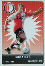 Plus Eredivisie Football tradingcard 2007/08 #57 Nicky Hofs Feyenoord Rotterdam