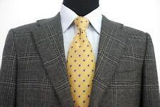 Kiton Italy 3Btn 100% Cashmere Sport Coat Gray Plaid Check Dual Vent Men's 40R