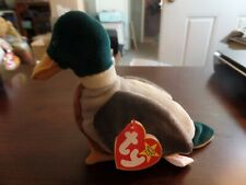 1998 TY Beanie Babies Original Jake The Duck Has Tag RETIRED MINT Errors #4325