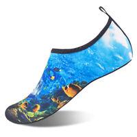 Mens Water Shoes New Ocean Pattern Aqua Socks Yoga Pool Beach Swim Surf Exercise