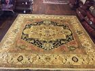Sale Genuine Hand Knotted Indo Oushak Heriz Geometric Area Rug Carpet 10x10ft,18