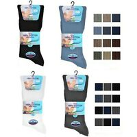 Mens 100% Cotton Non Elastic Socks Ideal for Diabetic Wide Loose Top By Aler