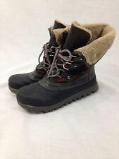 Baretraps Boots Womens 6.5 M Fashion Winter Lace Up Faux Fur Lining Aztec Rubber