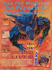 Original 1992 ROLAN'S CURSE 2 Nintendo Game Boy video game print ad page
