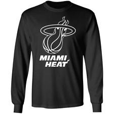 Men's Miami Heat Logo 2020 Basketball Long Sleeve Black T-shirt M-3XL