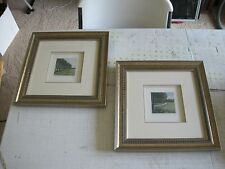 (2) Signed Matted & Framed Landscape LE 33/150 & 83/150 Engravings 14 x 14""