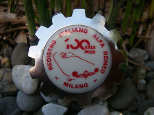 REGISTRO ITALIANO ALFA ROMEO MILANO - 100 YEARS JUBILEE Car Badge