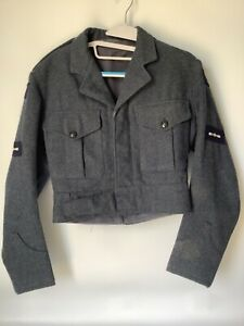 RAF Battledress Blouse B.D. Blue grey tunic vintage 70s size 4